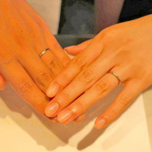 Asterism  挙式に向けての指輪交換もバッチリでした!