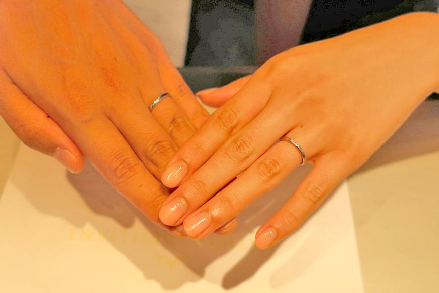 挙式に向けての指輪交換もバッチリでした!