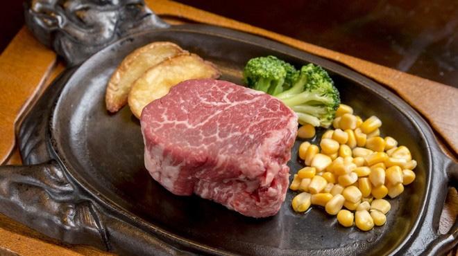 ステーキハウスうすい牧場 特選蒲原牛ステーキ コース料理(2名様分)