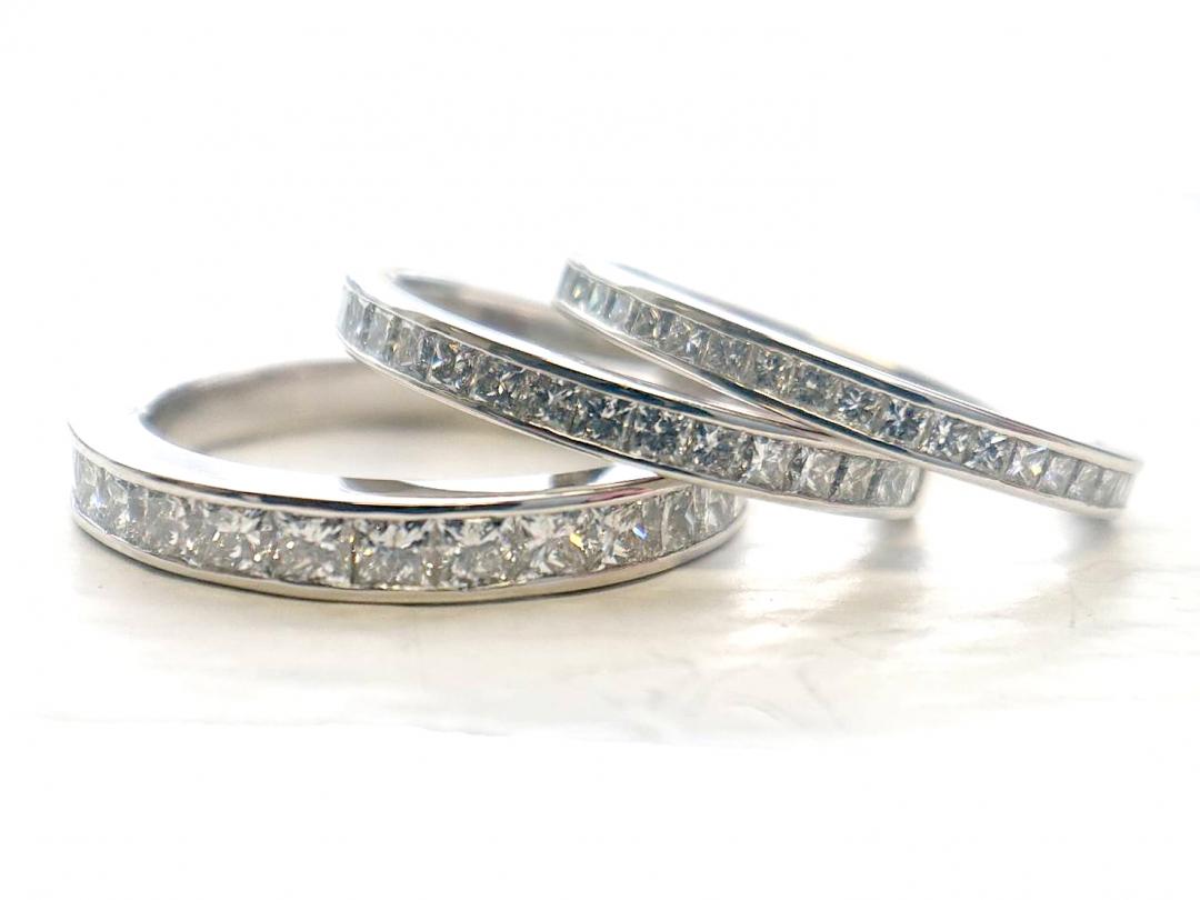 幅を変えて結婚指輪のデザインイメージを変更できる