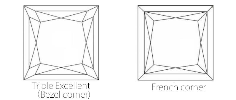 プリンセスカット角型四角いダイヤモンドBRIDGE