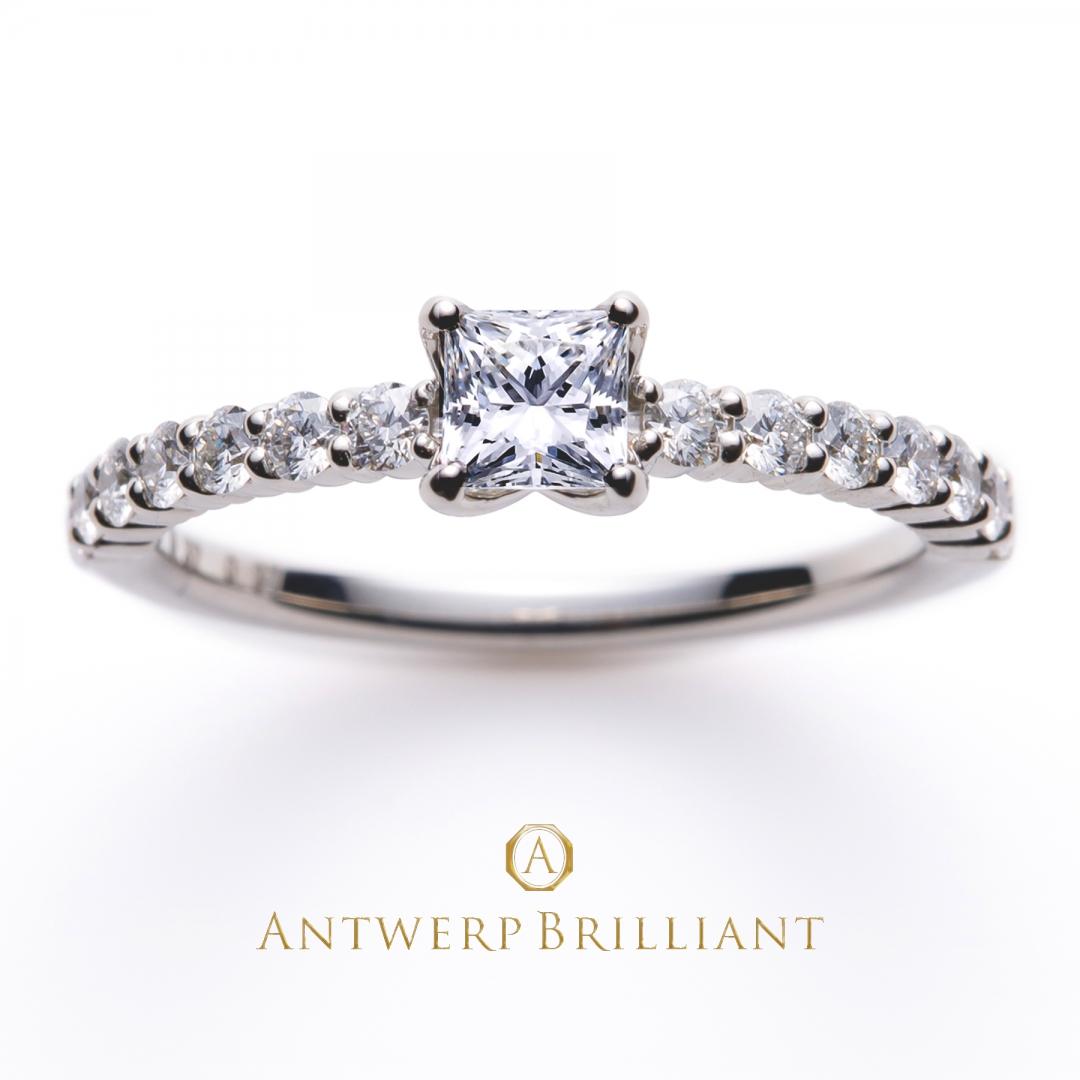 最上級のダイヤモンドの輝きを身に纏うハーフエタニティーの婚約指輪(エンゲージリング)