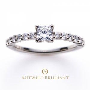 世界でもっとも美しいプリンセスカットで作る特別な婚約指輪 Antwerpbrilliant DlineStar