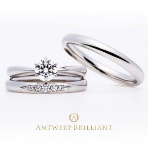 王道スタイル婚約指輪アントワープブリリアントのEvening starはブリッジ銀座東京