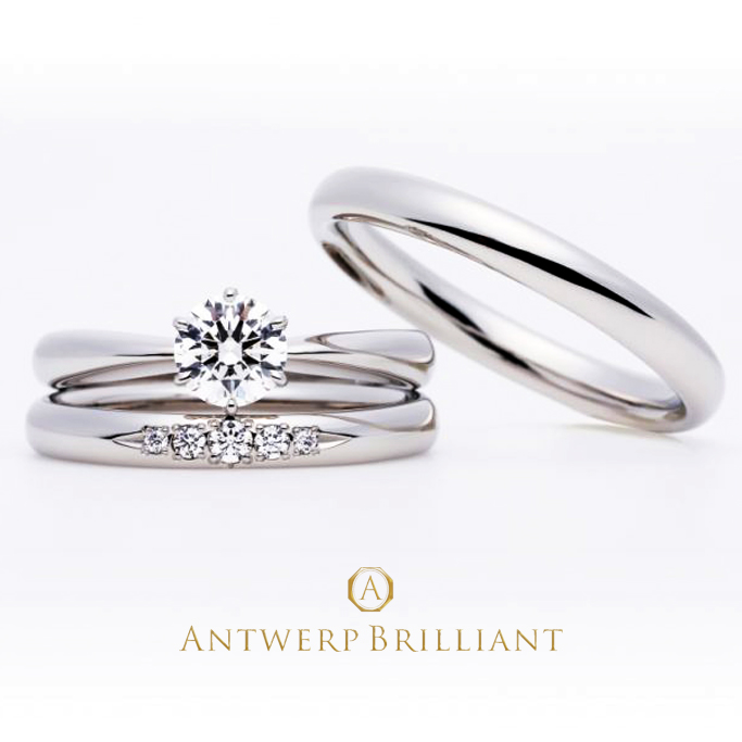 Evening Star solitaire Diamond Ring Set
