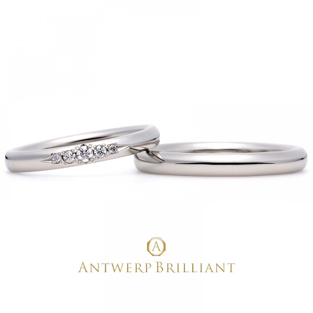 Evening Star Wedding Band Ring(5star)