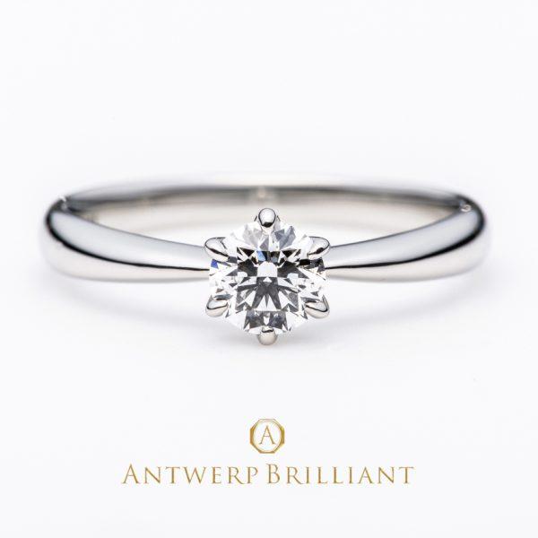 プロポーズで人気のソリテールデザインの婚約指輪
