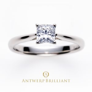"""MAJESTY"" Princess Cut Solitaire Diamond Ring"