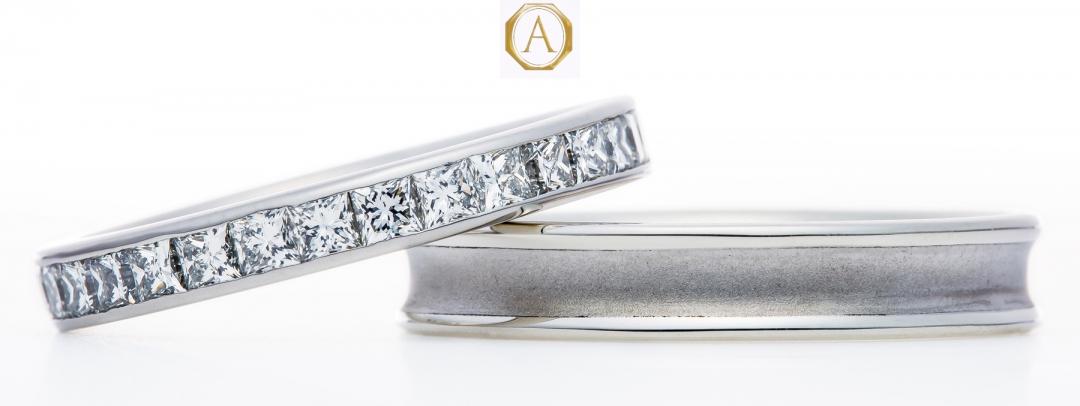 人気のプリンセスカットダイヤモンドリング