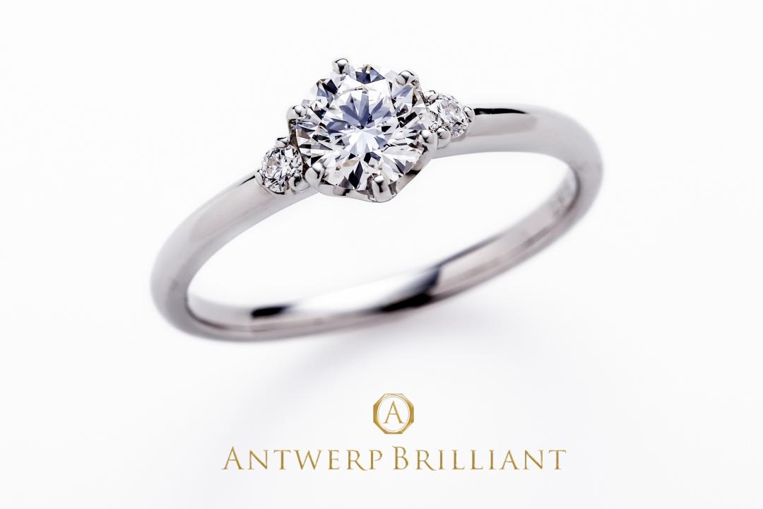 """Asterism""Half Carat Three Stone Diamond Ring"