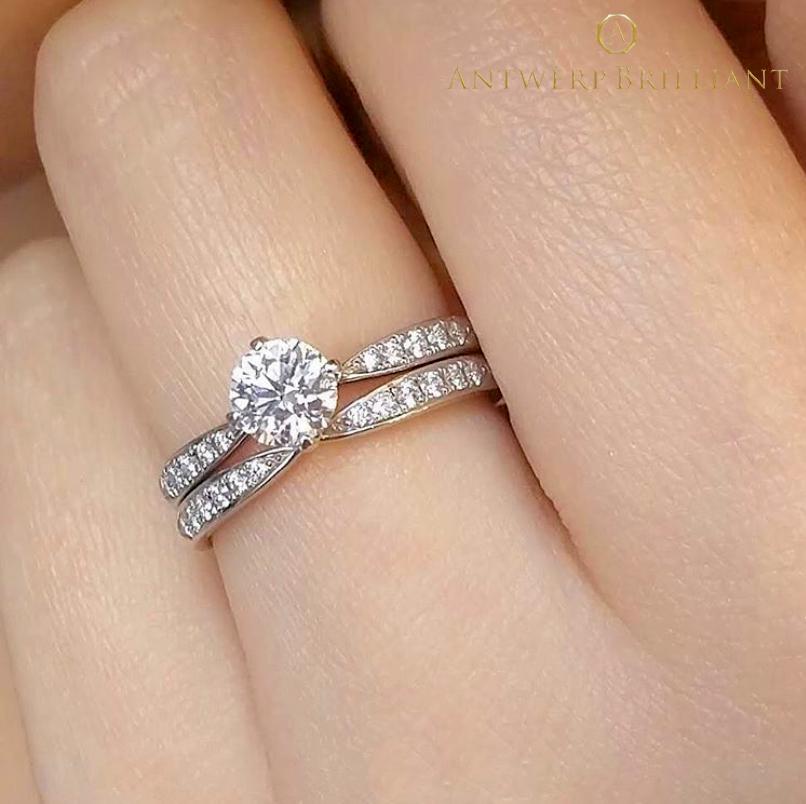 結婚指輪と重ねつけして一層ゴージャスに一番星モチーフ リボンみたい指が細く見える愛され結婚リング銀座の花嫁にも人気で普段使いもきれい