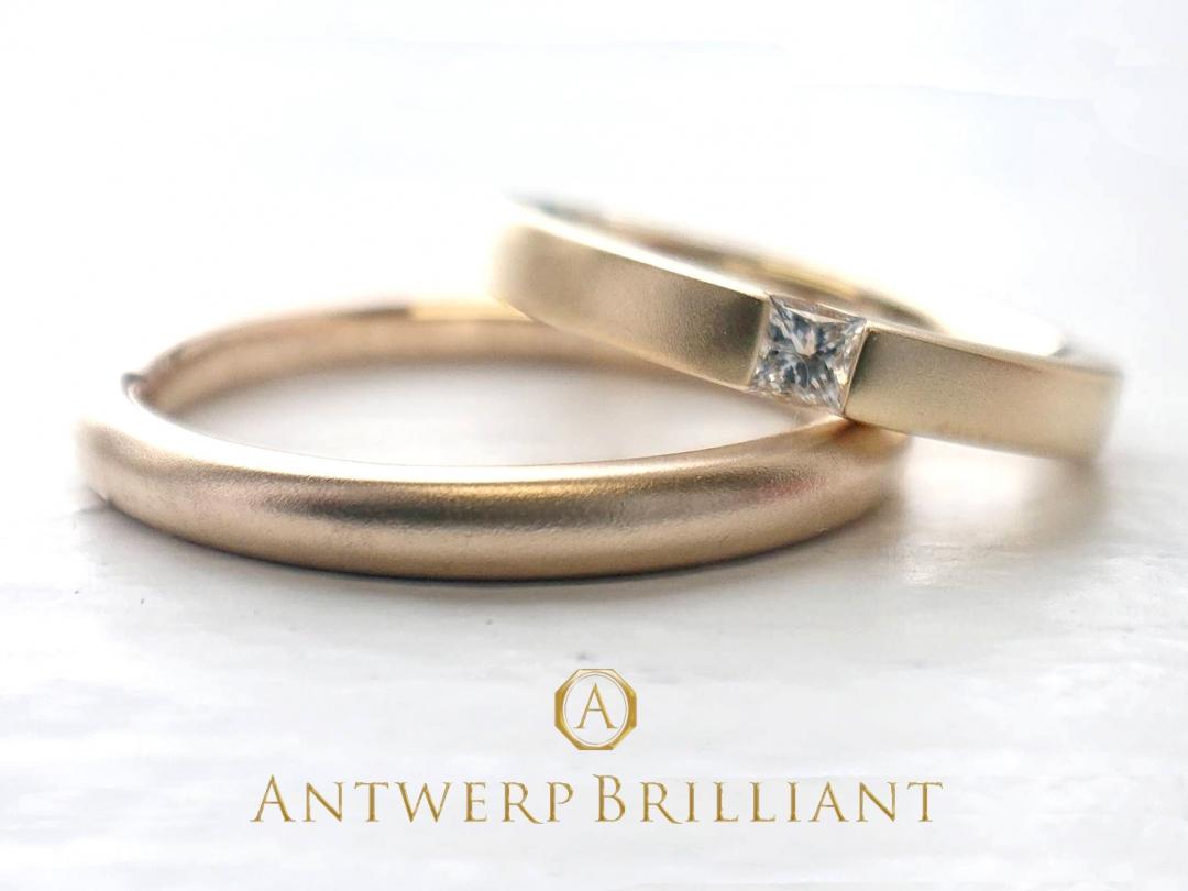 "Custom Ring Princess""Carré""2㎜&2.5㎜"