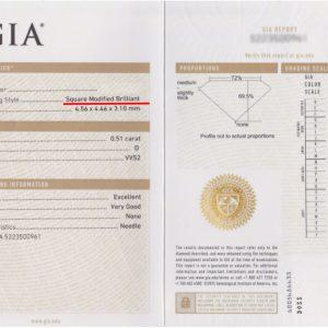 ダイヤモンドの鑑定書はGIAによって発行された