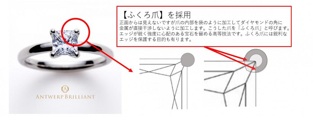 美しいプリンセスカットの尖った角を保護する高等技術ふくろ爪留め