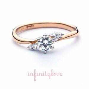 ピンクゴールドが可愛いプロポーズリング