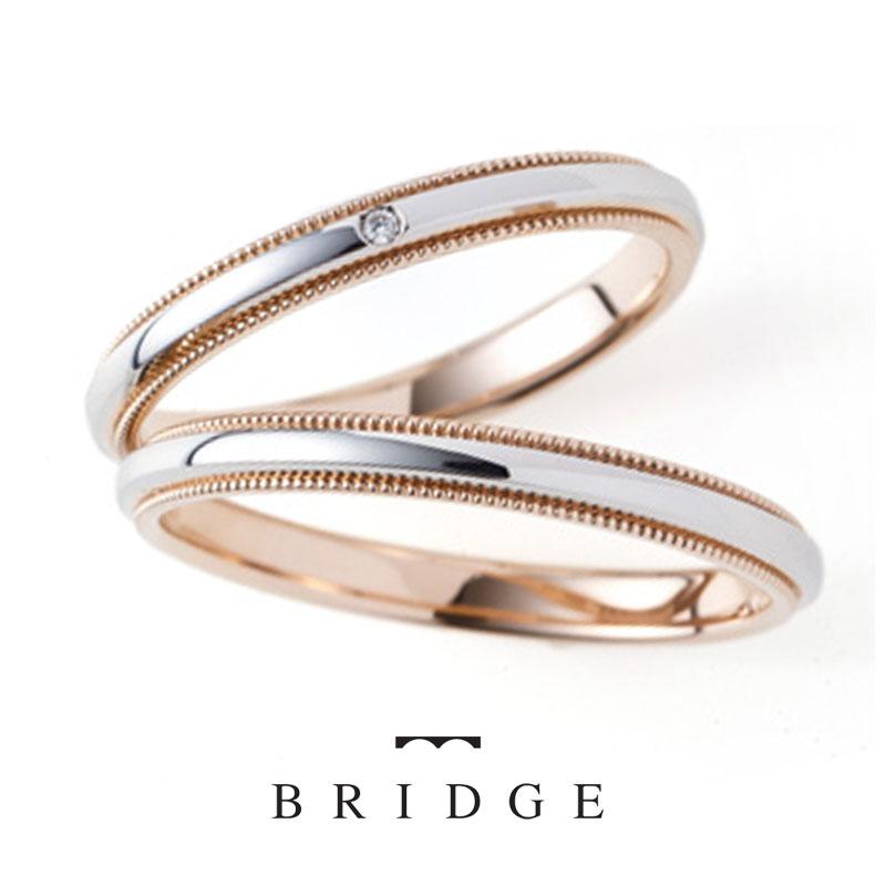 ミルグレインが美しいアンティーク調の結婚指輪