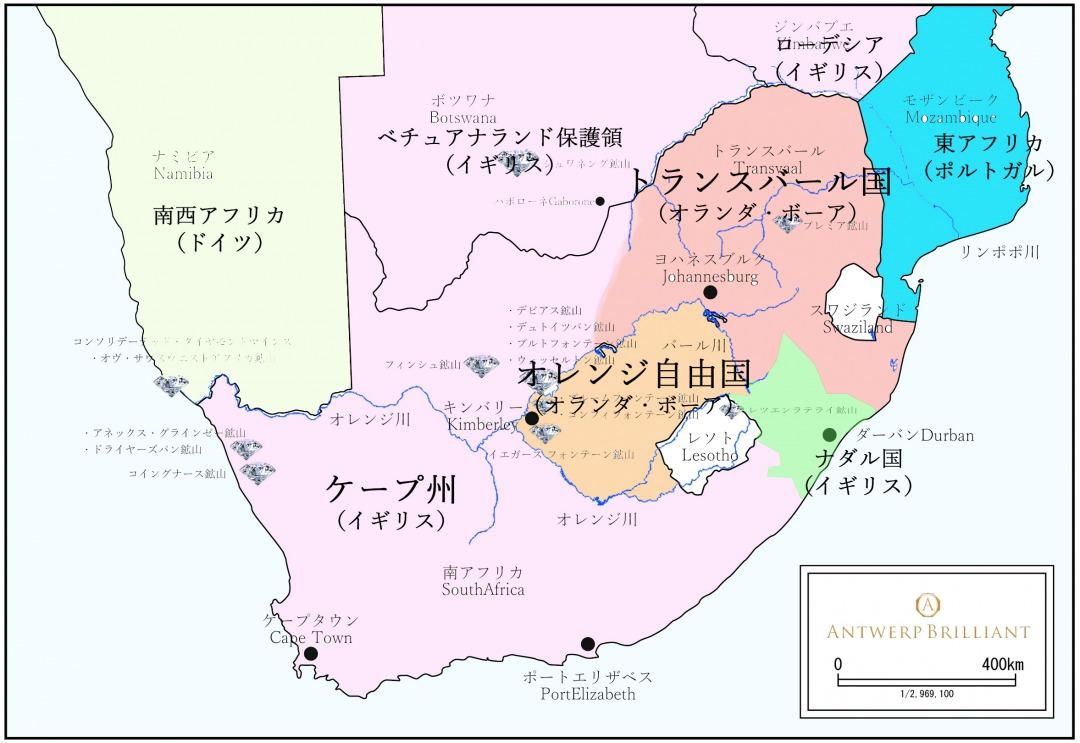 オレンジ自由国とトランスバール共和国はボーア人によって建国された。