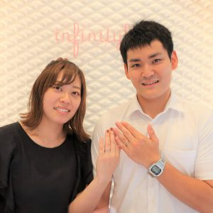 Jupiterの結婚指輪  ダイヤモンドがより輝くデザインです!
