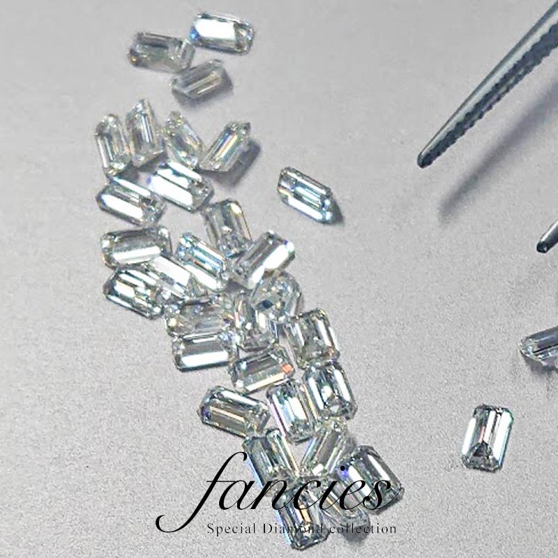 エメラルドカットのフルオーダーはダイヤモンドの選定からスタート