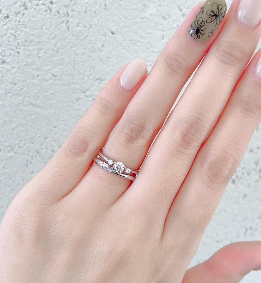 銀座で人気のシンプルで可愛い結婚指輪、婚約指輪