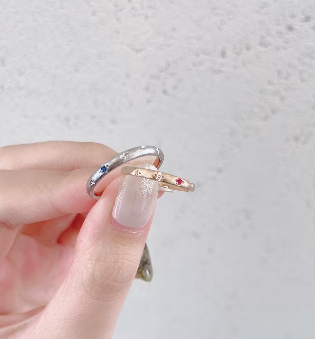 銀座で人気の可愛い結婚指輪