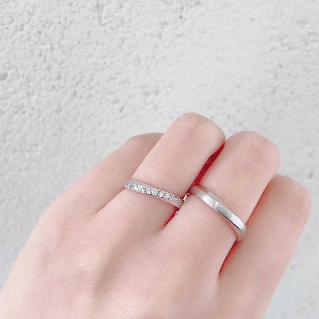 銀座で人気のダイヤモンドラインが華やかで美しい結婚指輪