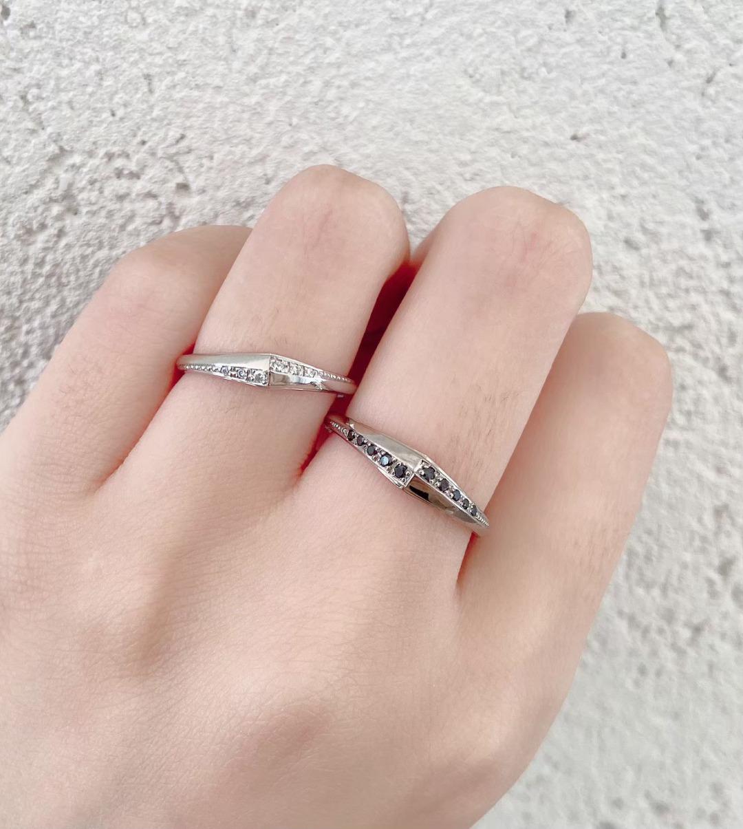 銀座で人気のアンティーク調の個性的な結婚指輪