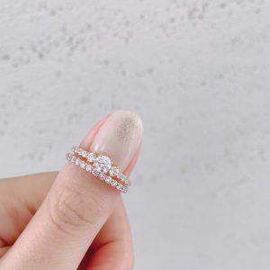 銀座で人気のダイヤモンドラインが華やかで美しい婚約指輪
