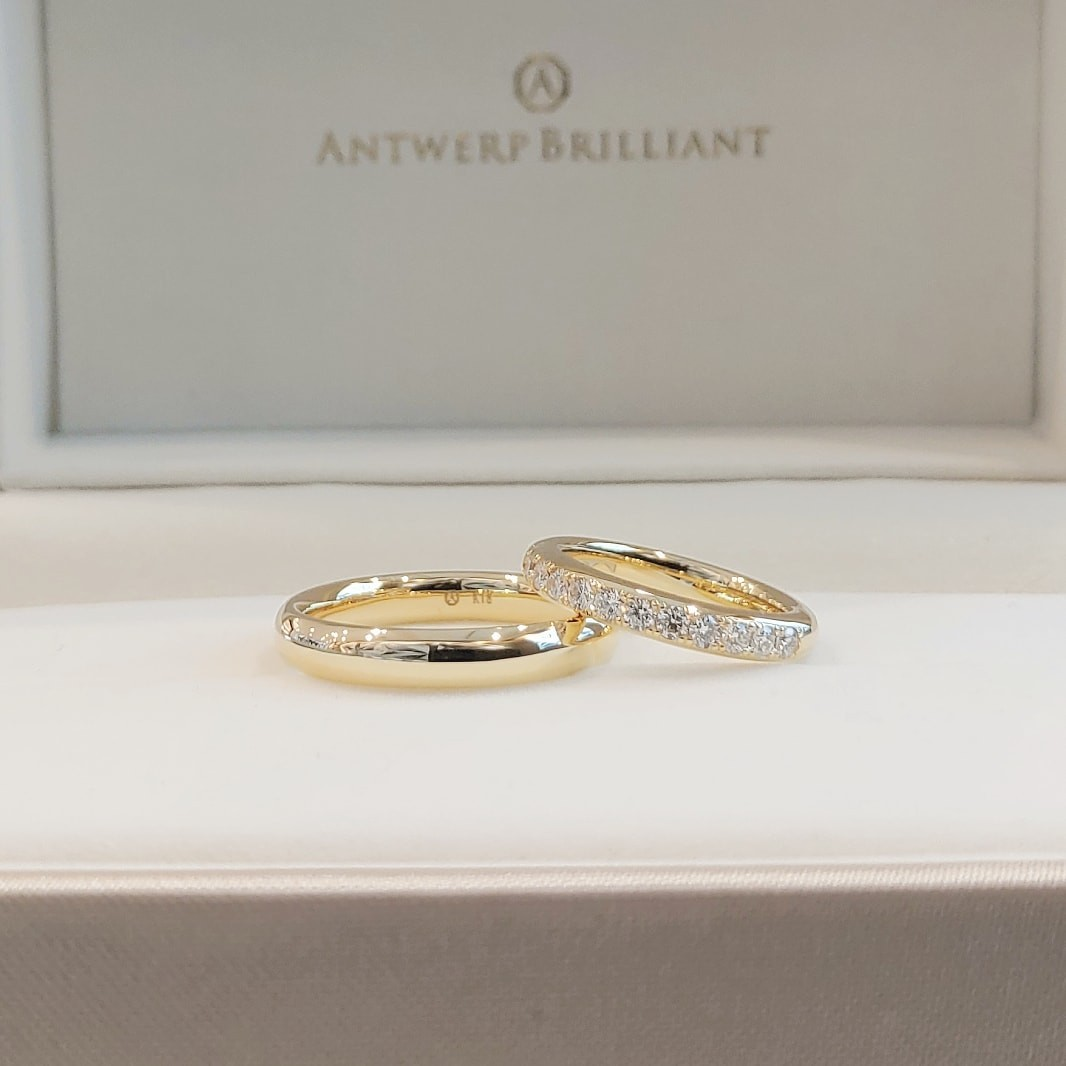 ハーフエタニティリングが可愛い結婚指輪 婚約指輪にもおすすめ