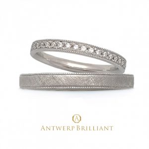 """D-Line Star Classic"" Millgrain Diamond Band Ring"