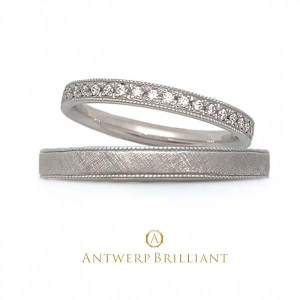 Classicテイストの結婚指輪はブリッジ銀座