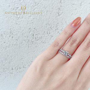 美しいアフリカ産ダイヤモンドを使用したハーフエタニティの婚約指輪 Antwerpbrilliant DlineStar