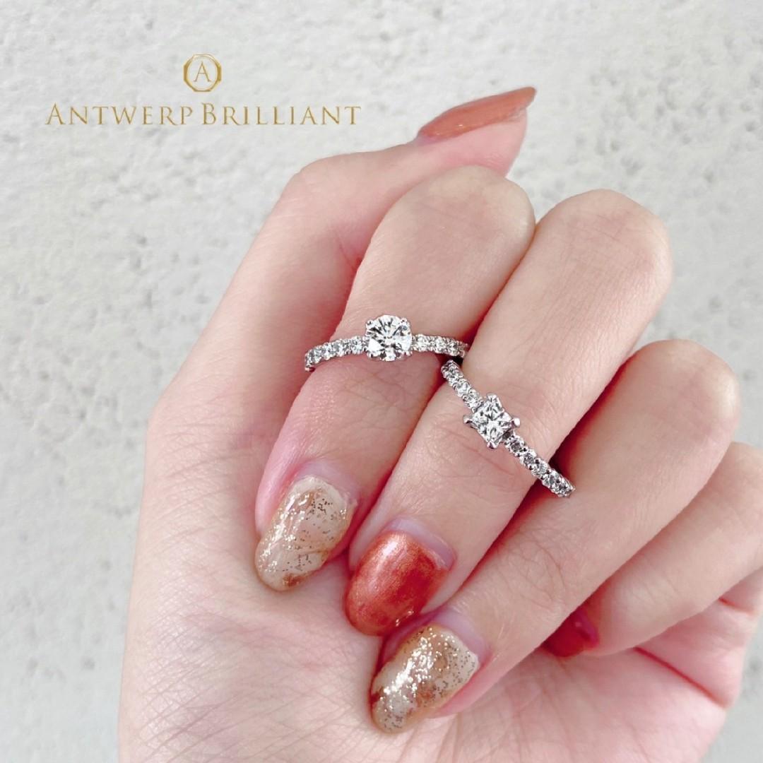 美しいアフリカ産ダイヤモンドを使用したハーフエタニティの婚約指輪