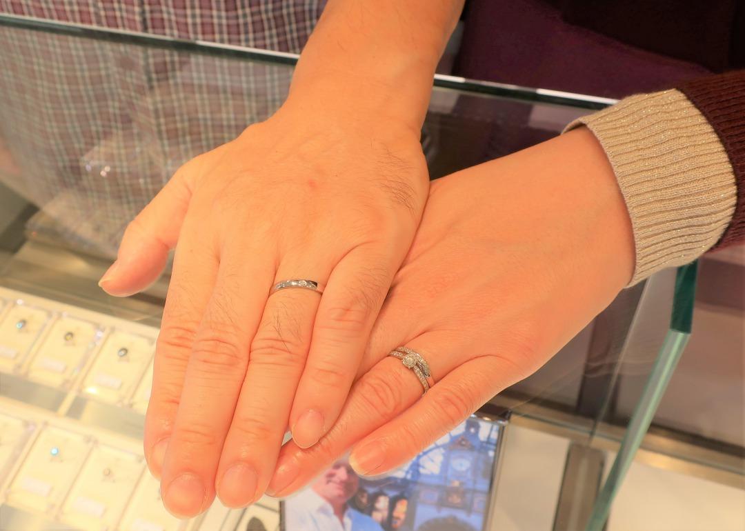 Spicaの結婚指輪 お茶する途中でお店があったのでふと立ち寄りました♪