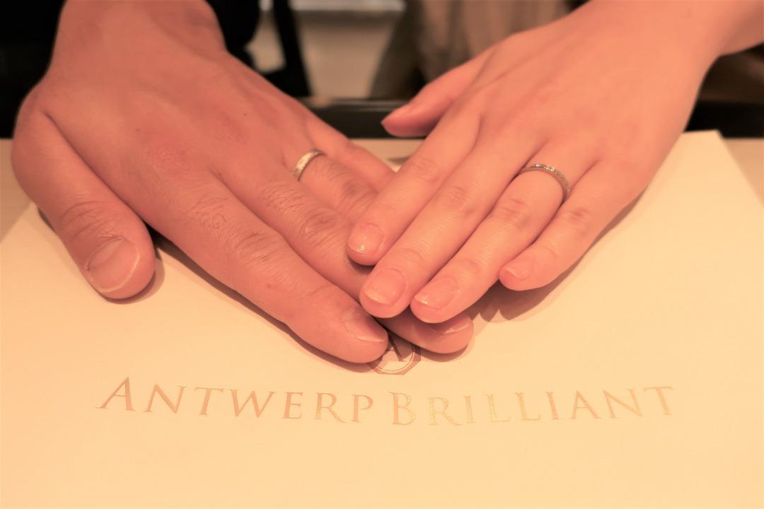 Star Ray&D Line Star Classicの結婚指輪 プリンセスカットが綺麗で可愛かった