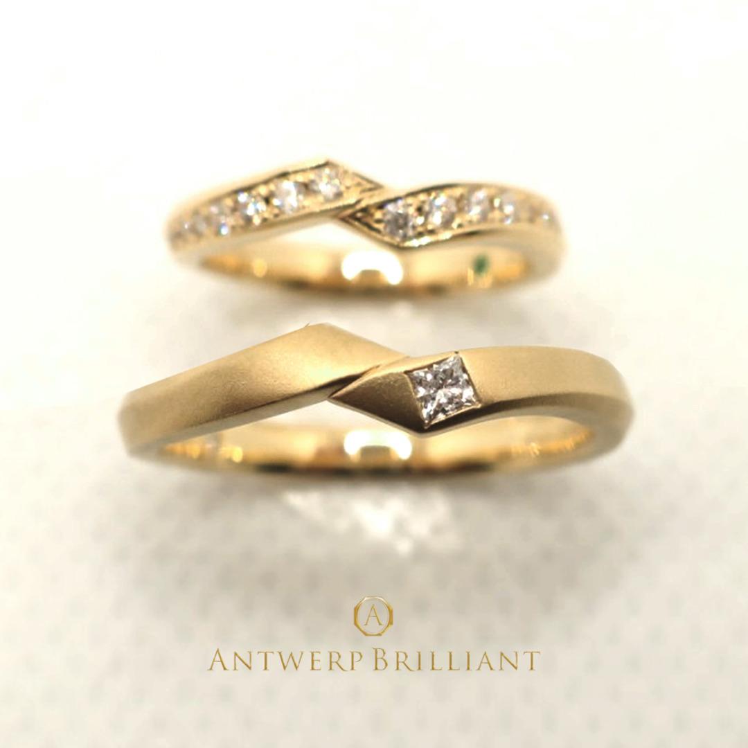 ダイヤモンドのアレンジができるBRIDGE銀座の結婚指輪