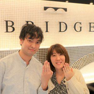 Spring Breezeの婚約指輪&Vegaの結婚指輪 リングにダイヤモンドを入れることにし満足しています!!