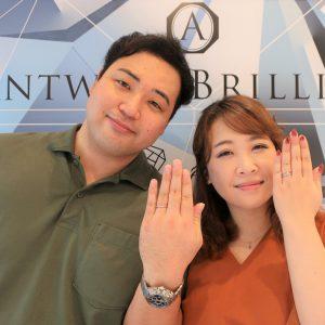 Lightningの婚約指輪&結婚指輪   ダイヤモンドの輝きがとても魅力的でした
