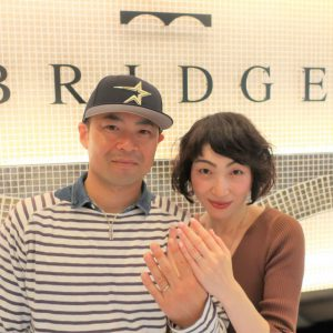 Bond foreverの結婚指輪   ウエーブデザインのボリューム感がお気に入りです♡