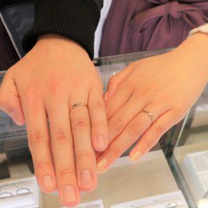 Perfect Reflectionの結婚指輪 自然に。