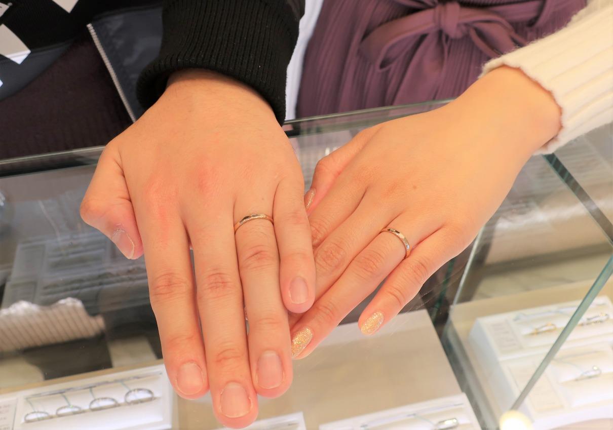 結婚指輪で大切にしていた着け心地が、銀座にあるブランドの中で一番でした