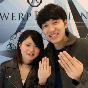 D Line Star Classicの結婚指輪 オリジナルアレンジで夢のリングができました。