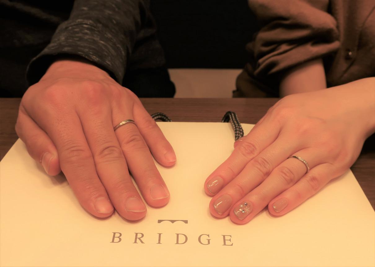 Voyageの結婚指輪 細さと上品なデザイン、ダイヤモンドの輝きが決め手でした