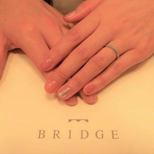 Morning Sunの結婚指輪  10店舗回って、ダイヤモンドの輝きと女性らしいデザインが一番でした
