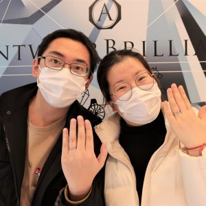 結婚指輪選びのポイントは、ダイヤモンドとデザインとスタッフの笑顔