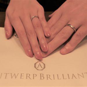 Lightningの結婚指輪 ダイヤモンドのキラキラが忘れられず、決めました
