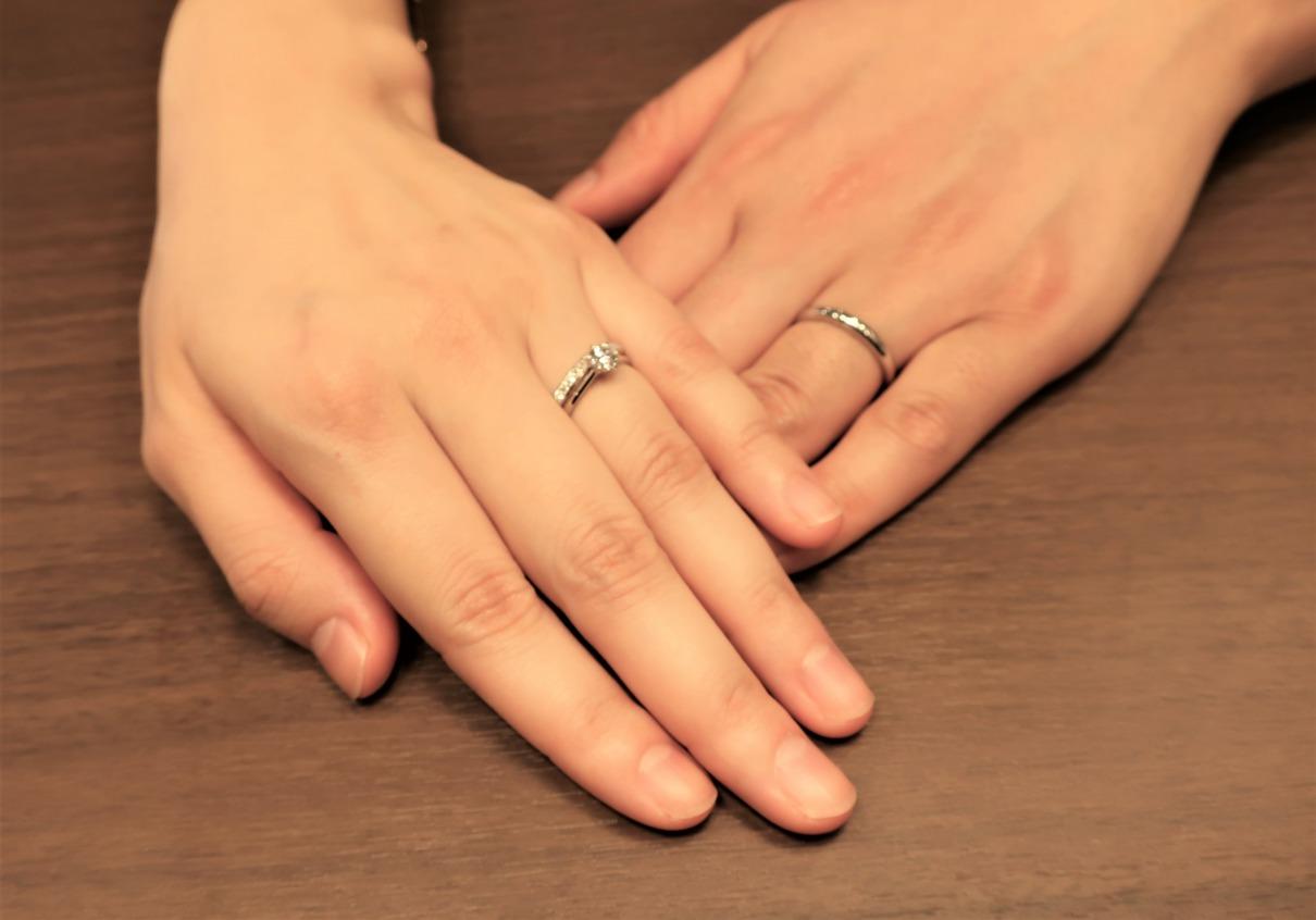 Here&Nowの婚約指輪/Morning Sunの結婚指輪 一目惚れ!理想の形に出会えました
