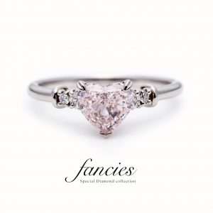 "Pink Diamond Heart Shape Ring ""Real love"""