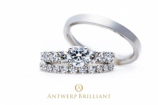 """Extreme"" Side large Melee Diamond Ring(Set)"