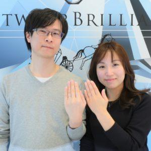 ダイヤモンドの輝きとデザインが美しい結婚指輪に決めました